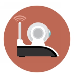 Digital white wi-fi and web camera vector image