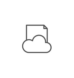 document cloud line icon isolated on white vector image