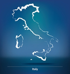 Doodle Map of Italy vector image vector image