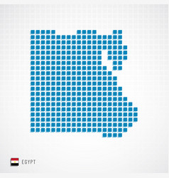 egypt map and flag icon vector image