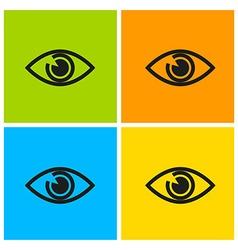 eyes set vector image