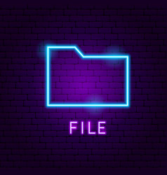 File neon label vector