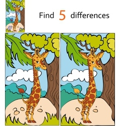 Find differences giraffe vector