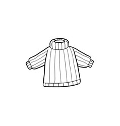 flat baby kid knitted pullover vector image