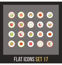 Flat icons set 17 vector