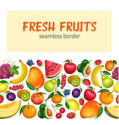 fruits seamless border vector image