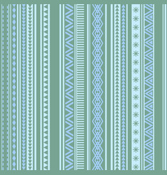 Geometric seamless pattern green and blue winter vector