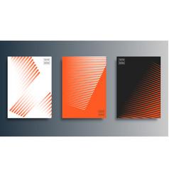 gradient line minimal design for flyer poster vector image