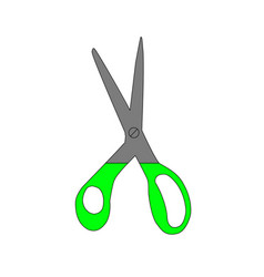 green scissors vector image