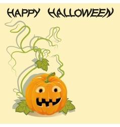 Greeting card with Halloween pumpkin vector image vector image