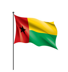guinea bissau flag on a white vector image