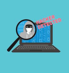Hacker detected theme vector