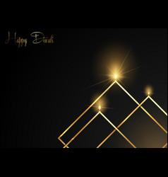 Happy diwali celebration gold luxury template vector