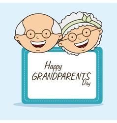 Happy grandparents day vector