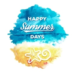 Happy Summer Days vector image