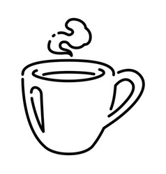 Hot coffee cupgraphic on white background vector