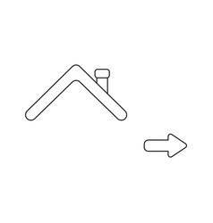 icon concept rowith arrow pointing right vector image
