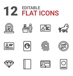 identity icons vector image