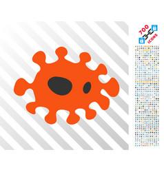 Infection flat icon with bonus vector