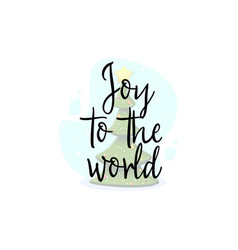 joy to world festive banner on a white vector image