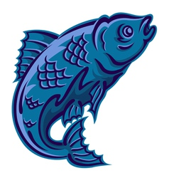 jumping fish vector image