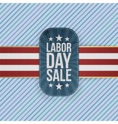 Labor Day Sale patriotic Emblem vector image