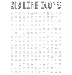 Line Icons vector image