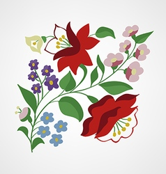 Little Hungarian folk embroidery pattern vector image