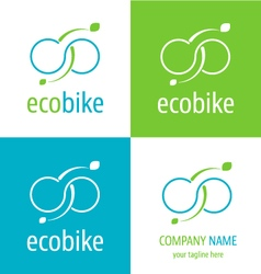 Logo eco bike vector