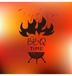 Logo for cafe barbecue oven grill for Home bar vector