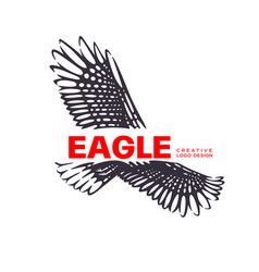 logotype eagle vector image