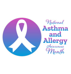May is asthma and allergy awareness month holiday vector