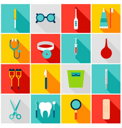 medical tools colorful icons vector image