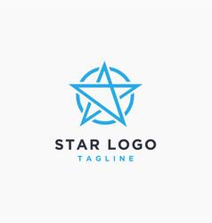 minimalist star logo icon on white background vector image