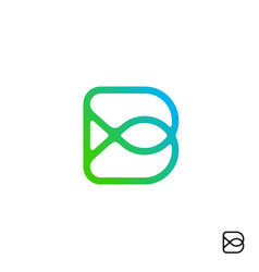 Modern initial b logo design vector