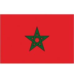 moroccan flag vector image