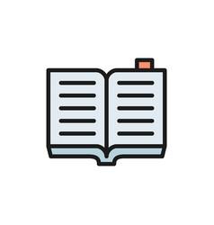 open book criminal code flat color icon vector image