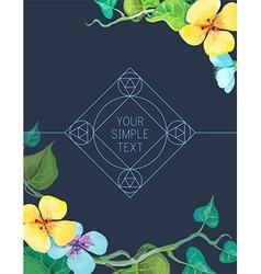 ornamental logo design vector image