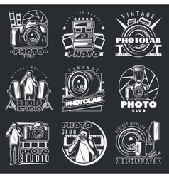 Photo Studio Emblems Set vector