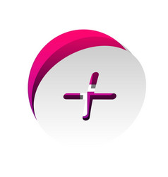 Positive symbol plus sign detachable vector