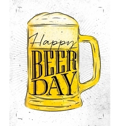 Poster beer day vector image
