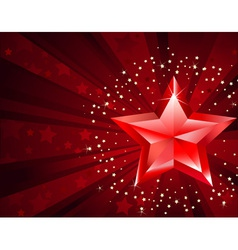 red pure star vector image