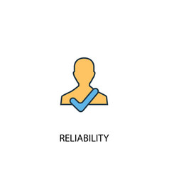 Reliability concept 2 colored line icon simple vector