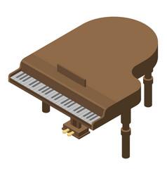 Retro grand piano icon isometric style vector