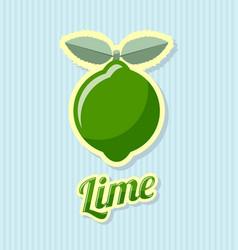 Retro lime vector