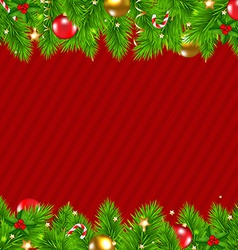 Retro Red Christmas Wall vector image