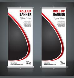 Roll up banner pull up banner x-banner modern v vector
