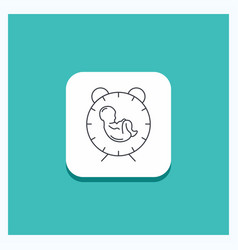 Round button for delivery time baby birth child vector