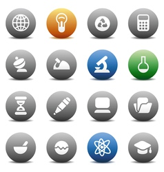 Round buttons for science vector image