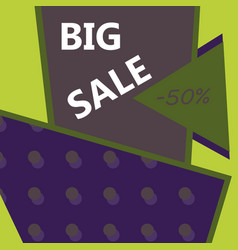 sale banner big sale banner template design sale vector image